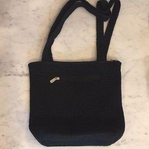 NWOT The Sak Black crocheted bucket bag